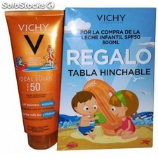 Leche solar niños spf 50 vichy ideal soleil 300 ml regalo tabla hinchable