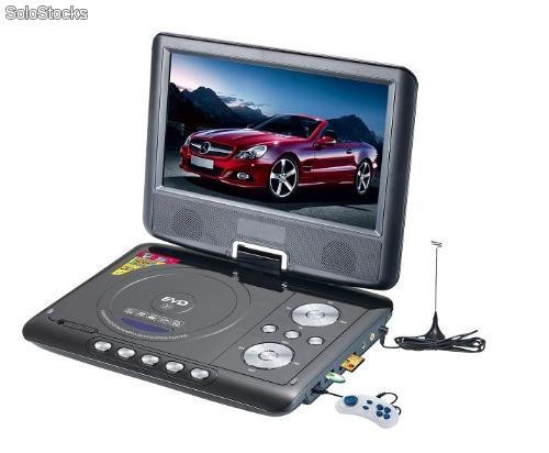 lecteur de dvd portable avec cran lcd 9 pouces et port usb lecteur de carte sd. Black Bedroom Furniture Sets. Home Design Ideas