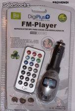 Lector MP3, Ipod, Reproductor MP3, Lector de tarjetas, USB + FM para coche, SD