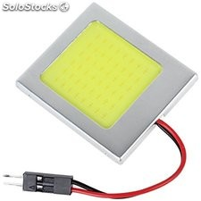 Led 48 smd cob Chip 48LED 12V dc con T10 Festoon led tipo fusible luz Interiora