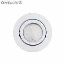 Led Empotrable Basculante Gu10 2 5W Redondo Blanco Pack 3Und Megaled