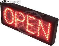 LED message sign DisplayMatic OPEN or CLOSED with red and green (LF13)
