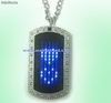 Led name tag necklace (mol513)