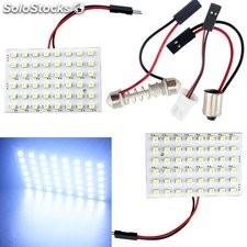 LED Panel 48 SMD 1210 Luces de cúpula interiores de coche bombilla Festoon