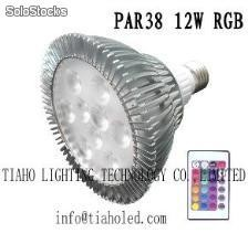 led par20 par30 par38 12w e27 rgb led bulb dmx led light
