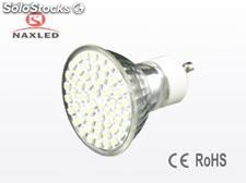 Led spot light 3w, gu10 base, 60pcs 3528 LEDs, glass cup lamp