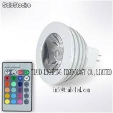 led spot light mr16 3w rgb led lamp ir led gu10 rgb spotlight led bulb