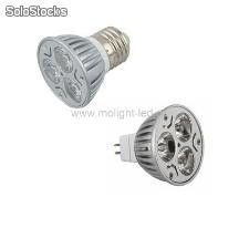 Led spotlight 3w e27/mr16/gu10 for shop decoration