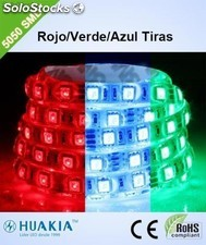 LED strip r/g/b a todo color Tiras LED Verde 300 pieza 5050smd led/Rollo