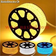 Led strips 5050 smd led, warm white 220v