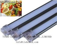Led tube light led fluorescent lamps 15w 100lm/w led fruit meat pink tube light