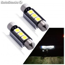 Leds Matricula Canbus Bmw Serie 1, 3, 5, 6, X1, X3, X5, X6 Y Z4 - Zesfor