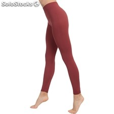 Leggins push up cosmético-textil color marsala - anaissa - cosmetic line -