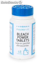 Lejia en pastillas efervescentes BLEACH POWER TABLETS envase de 48 pastillas