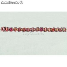 Lena red - pink pewter headbands