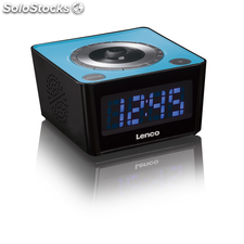 Lenco Radio despertador CR-16 azul