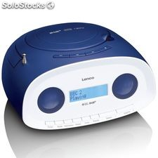 Lenco Radio portátil DAB+ con reproductor de CD/MP3 SCD-69 azul