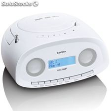 Lenco Radio portátil DAB+ con reproductor de CD/MP3 SCD-69 blanca