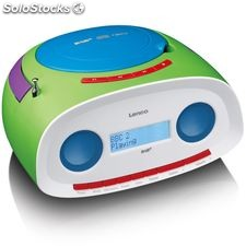 Lenco Radio portátil DAB+ con reproductor de CD/MP3 SCD-69 verde