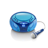 Lenco Radio y reproductor de CD SCD-650 azul
