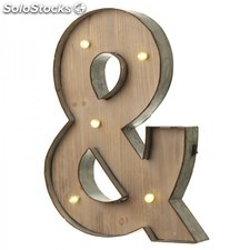 Letras con luces led · & (ampersand)