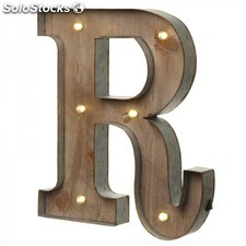 Letras con luces LED · R