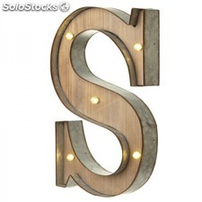 Letras con luces LED · S