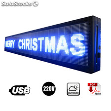 Letrero Led Programable Blanco 40 x 300 cm