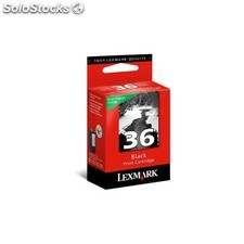 Lexmark - N°36 Black Return Program Print Cartridge Negro cartucho de tinta