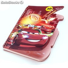 Libreta 3D Disney Cars (A5) 12262 PPT02-12262