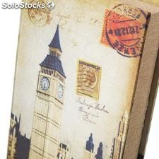 Libro Cities 2/m seda MDF metal 16x5x24cm