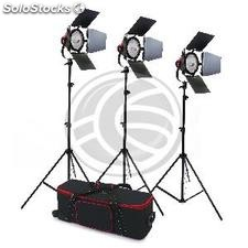 Lighting kit for photo studio with 3 continuous spotlights 800W (EH70)