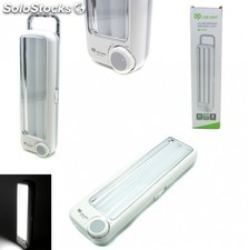 Linterna led bateria con recargable luz de emergencia 80 led 8 w
