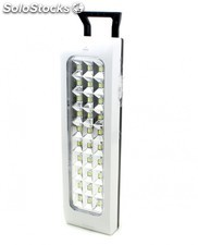 Linterna led con bateria recargable luz de emergencia 30 led
