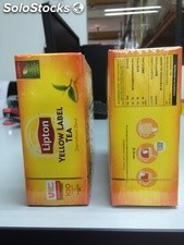 LIPTON Yellow Label Tea 100 bags Vente en gros Texte disponible en arabe