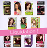 Liquidation totale - Lots de colorations pour cheveux
