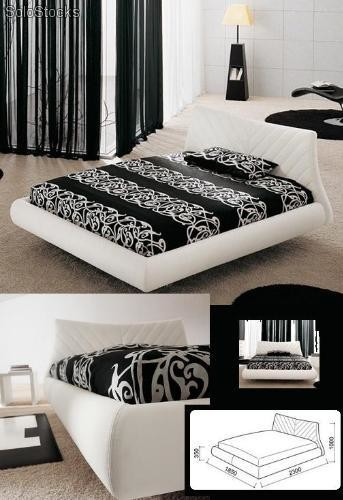 lit cuir cio. Black Bedroom Furniture Sets. Home Design Ideas