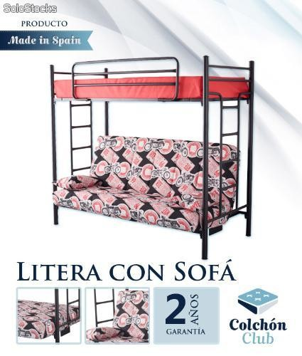 Litera con sofa cama mexico for Sofa litera carrefour