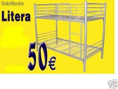Litera estructura metalica 90x190 excedente de stocks for Estructura cama 90x190