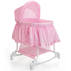 Little World Cuna mecedora 2 en 1 85x70x110 cm rosa LWFU002-PK