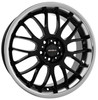 "Llanta Calibre Askari 7.5x18"" Black/Polished Lip 5x100 ET45"