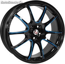 "Llanta Calibre Friction Blue 8x18"" Black/Candy Blue Ball Polished 5x108 ET45"