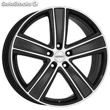 "Llanta Dezent - TH Dark 8x18"" (Matt Black / Polished Face) ET45 5x108 70"