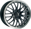 Llanta infiny phoenix /mbpl 8X17 Et40 5X108 73,1 matt black machined lip