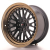 Llanta Japan Racing Jr10 16X9 Et20 4X100/108 Black+Bronze