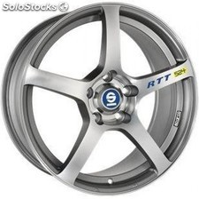 Llanta sparco rtt 524 8x18 ET48 5X112 matt silver tech diamond cut