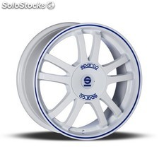 Llanta sparco sparco rally 7x16 ET37 100X4 white + blue lip