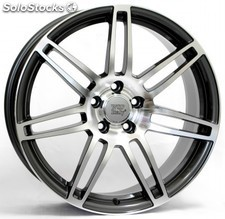 Llanta wsp S8 cosma two 8.0x18.0 ET35 5X112 57,1 anthracite polished