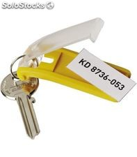 Llavero key clip bolsa 6uds amarillo durable 1957-04