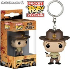 Llavero Pocket Pop Rick The Walking Dead